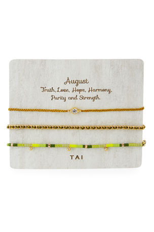 Tai Personalized Birthday Bracelets, Set of 3