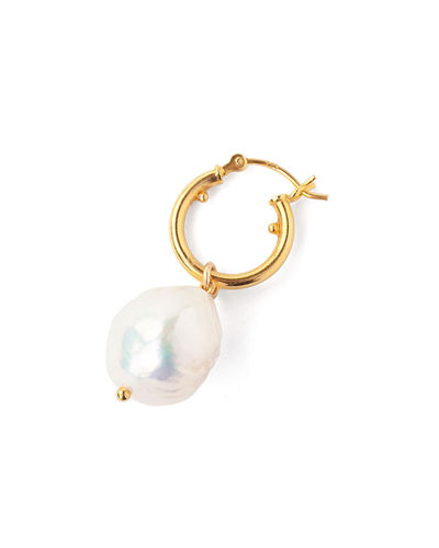 Chan Luu Freshwater Pearl Huggie Hoop Earrings