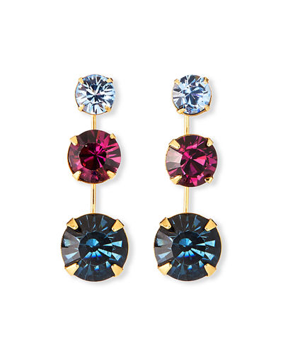 Jennifer Behr Linnea Graduated 3-Crystal Earrings