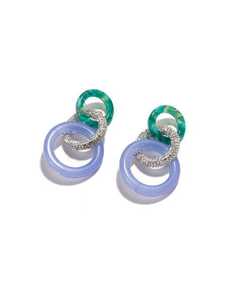 Lele Sadoughi Enchanted Hoop Earrings