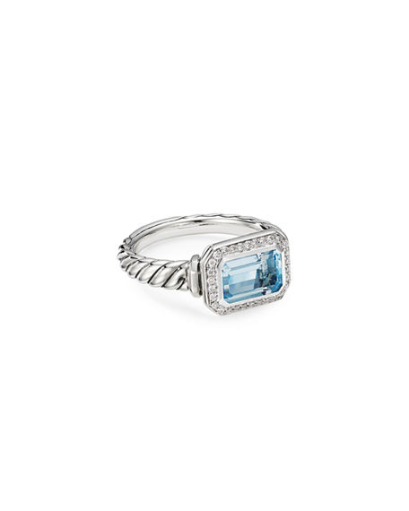 David Yurman Novella Stone Ring w/ Diamonds