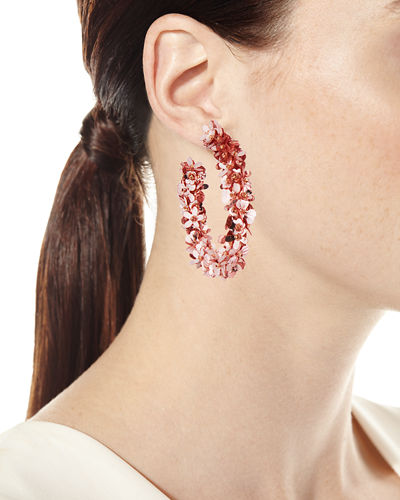 Sachin & Babi Clara Fleurette Sequin Hoop Earrings
