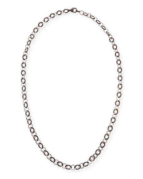 """Margo Morrison Two-Tone Chain Necklace with Diamond Clasp, 36""""L"""