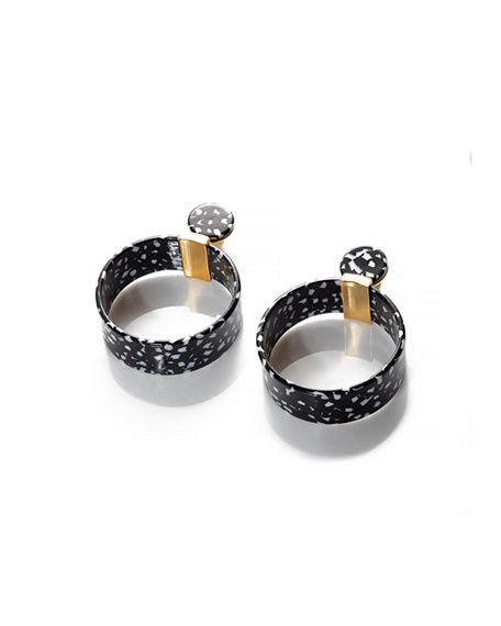 Lele Sadoughi Binocular Hoop Earrings