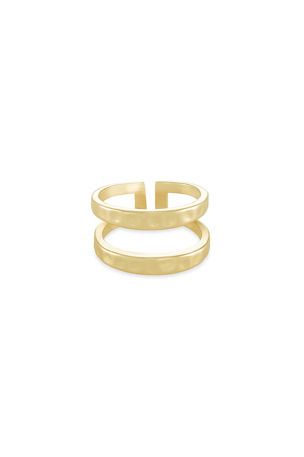 Kendra Scott Zorte Double-Band Ring, Size 6-8