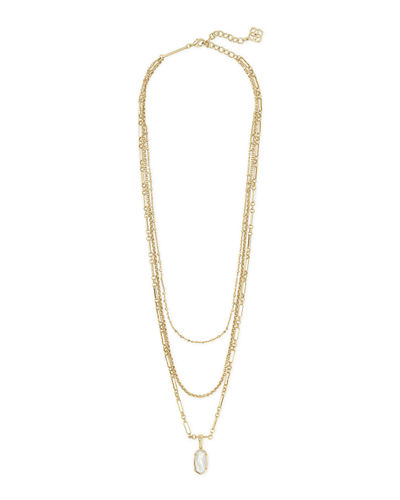 Kendra Scott Elisa Triple-Strand Necklace