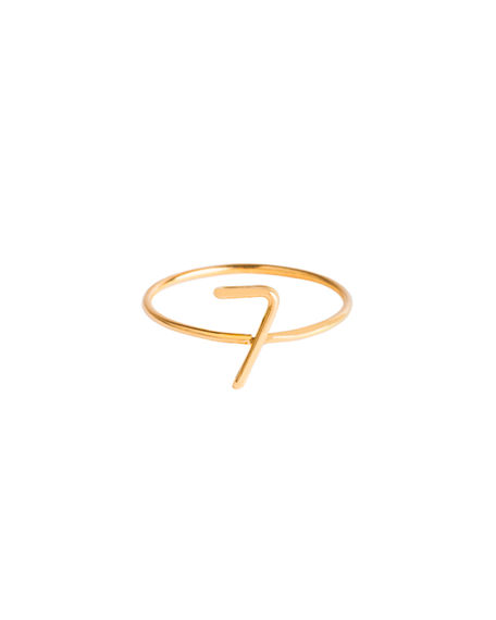 Atelier Paulin 18k Yellow Gold Wire Numerology Ring, Size 4.5-9