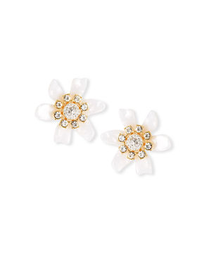 Lele Sadoughi Flower Bulb Button Earrings