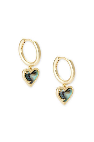 Kendra Scott Ari Heart Huggie Earrings
