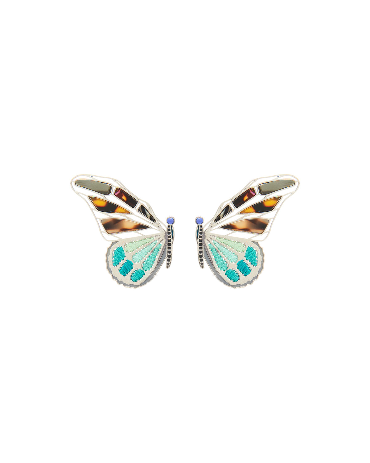 Large Mixed Butterfly Stud Earrings