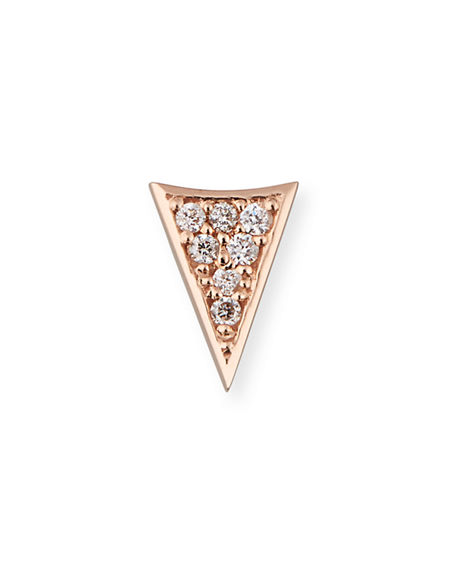Image 1 of 2: Sydney Evan 14K Gold Triangle Stud Earring with Diamonds