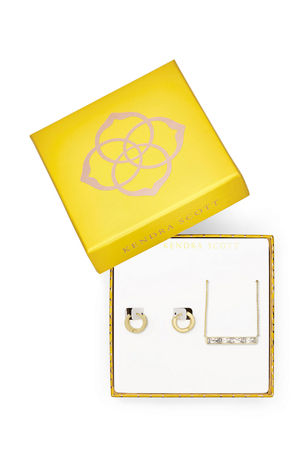 Kendra Scott Jack Pendant Necklace and Huggie Earrings Gift Set