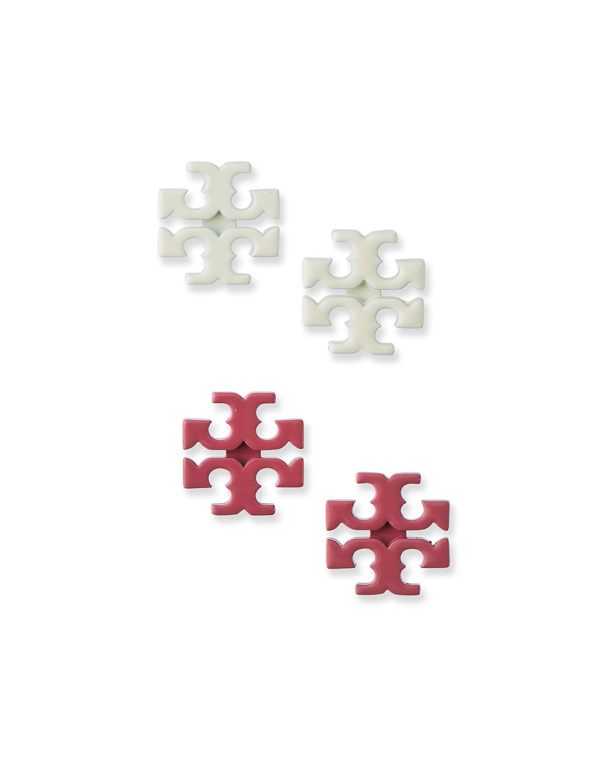 Tory Burch KIRA POWDER COATED STUD EARRINGS, SET OF 2