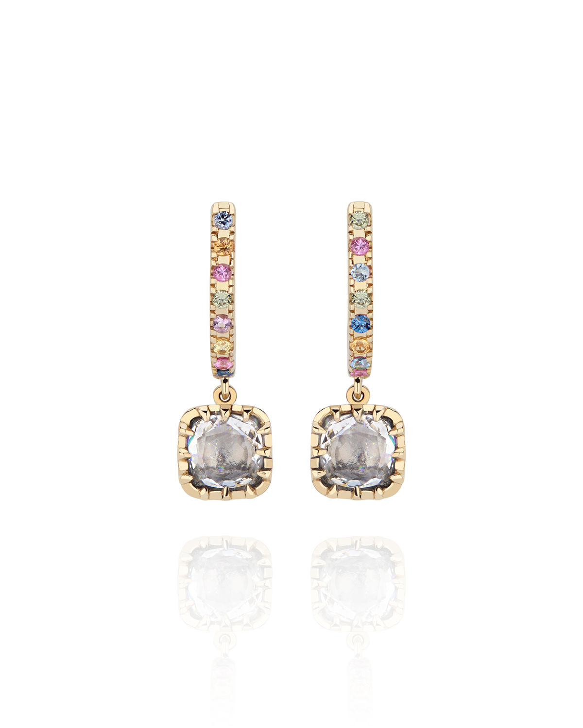 Caprice Elements Small Cushion Drop Earrings