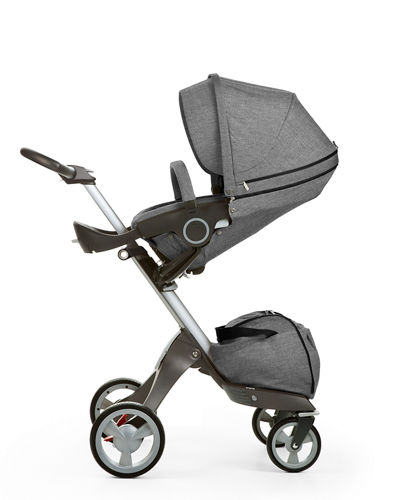 Xplory Adjustable Stroller, Stokke Xplory Carry Cot, Car