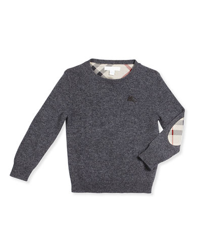 Burberry Mini Durham Cashmere Pullover Sweater, Size 4Y-14Y