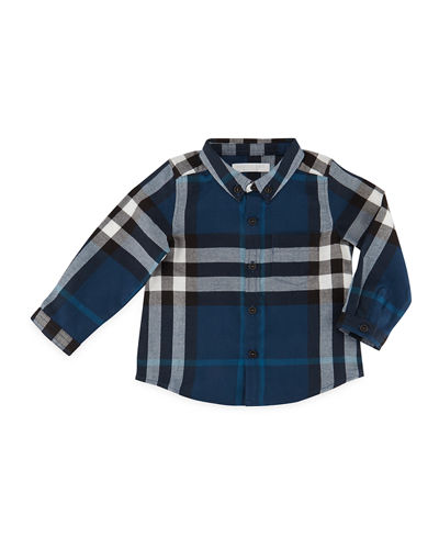 Fred Mini Long-Sleeve Check Shirt, Size 6M-3