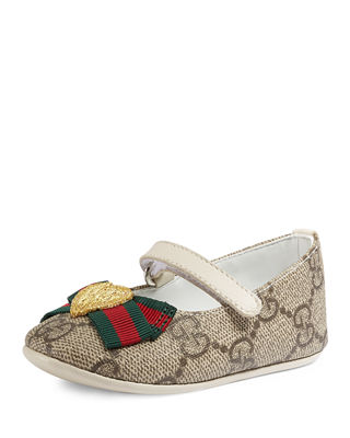 Gucci GG Supreme Web-Trim Mary Jane, Infant Sizes