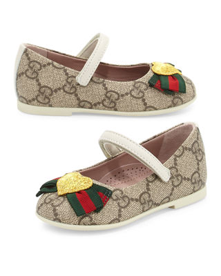GG Supreme Heart Mary Jane Flat, Toddler Sizes 4-10