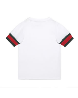 Image 2 of 2: Web-Trim Cotton Jersey Tee, Size 4-12