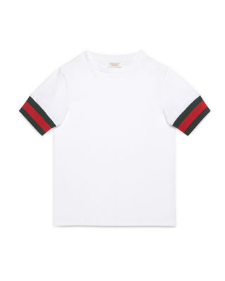 Image 1 of 2: Web-Trim Cotton Jersey Tee, Size 4-12