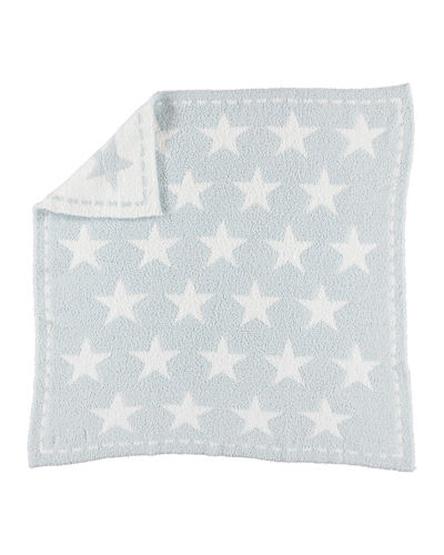 Barefoot Dreams CozyChic® Printed Reversible Receiving Blanket