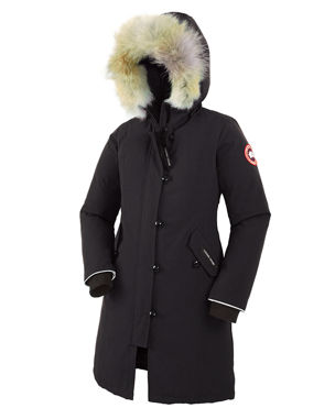 8de7b5153f50 Canada Goose Youth Brittania Parka with Removable Fur Trim