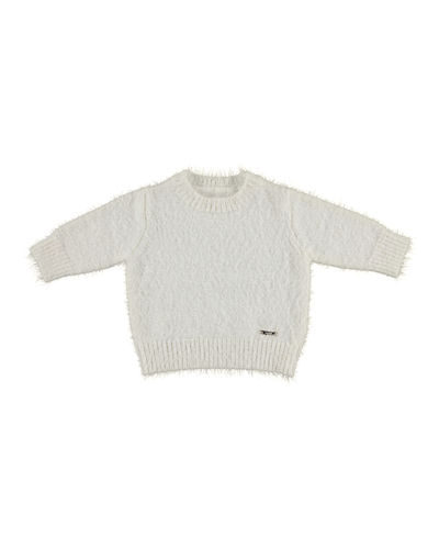 Mayoral Eyelash-Knit Pullover Sweater, Size 3-6