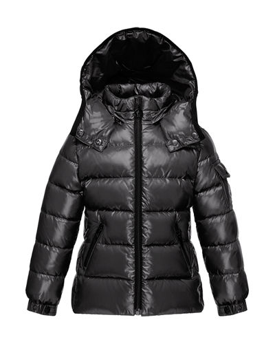 Moncler Bady Quilted Down Coat, Size 4-6