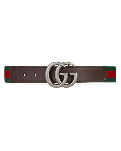Gucci Kid's GG Web Belt