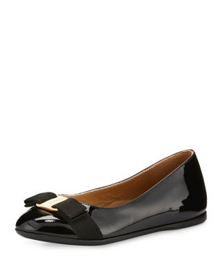 Varina Mini Patent Leather Ballet Flat, Toddler/Youth Sizes 10T-2Y