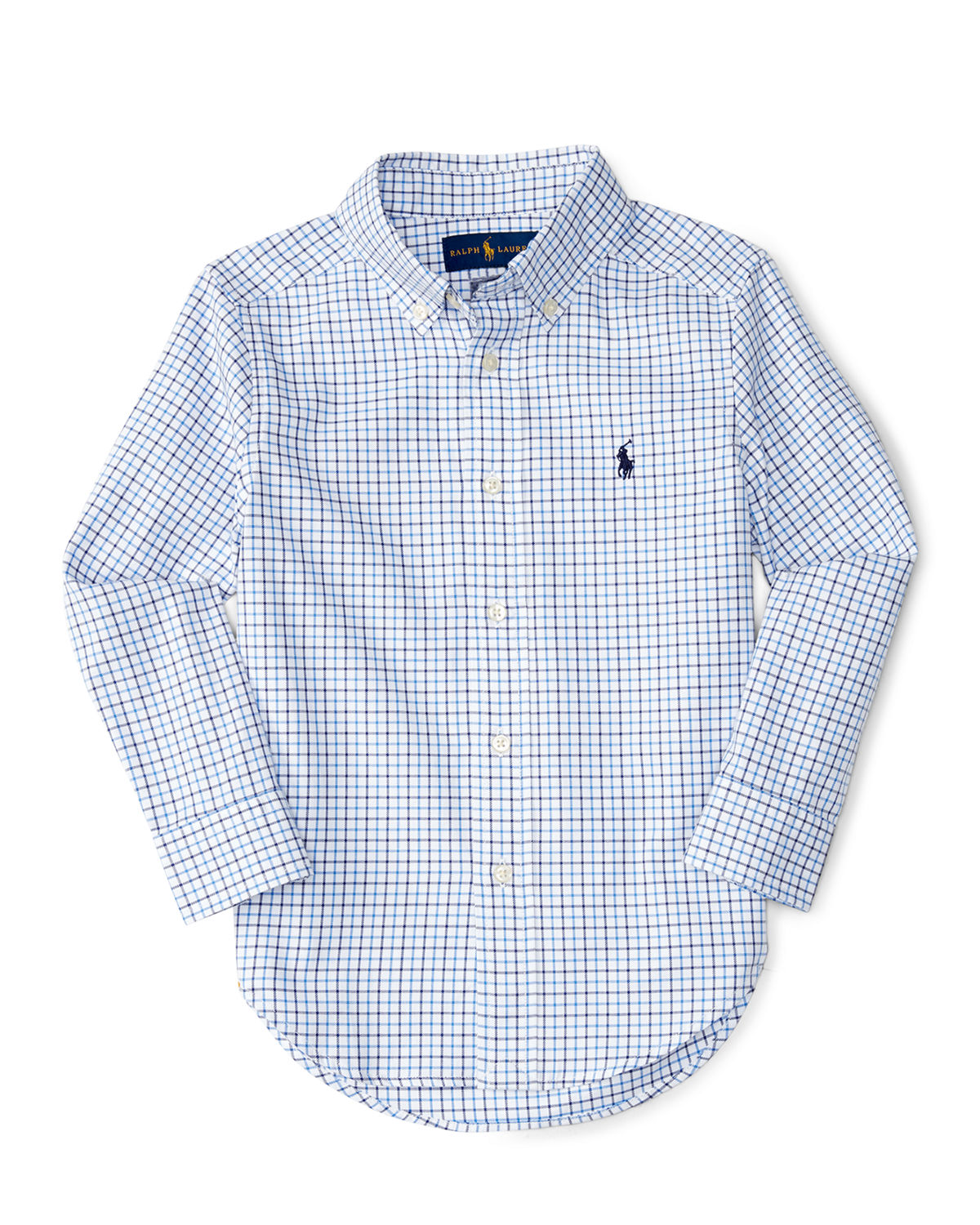 Check Poplin Dress Shirt, Size 4-7