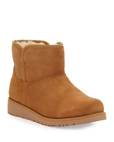 Katalina Short Suede Boots, Kid Sizes 13T-4Y