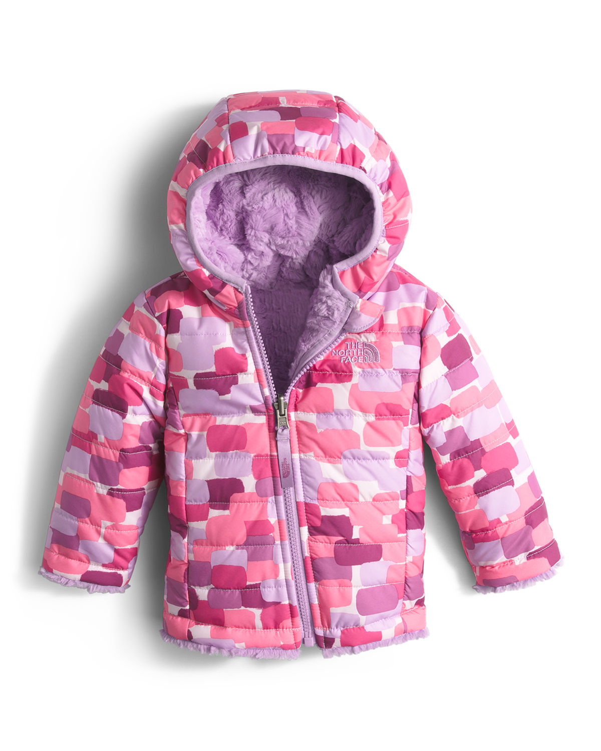 Reversible Mossbud Swirl Hooded Jacket, Size 3-24 Months