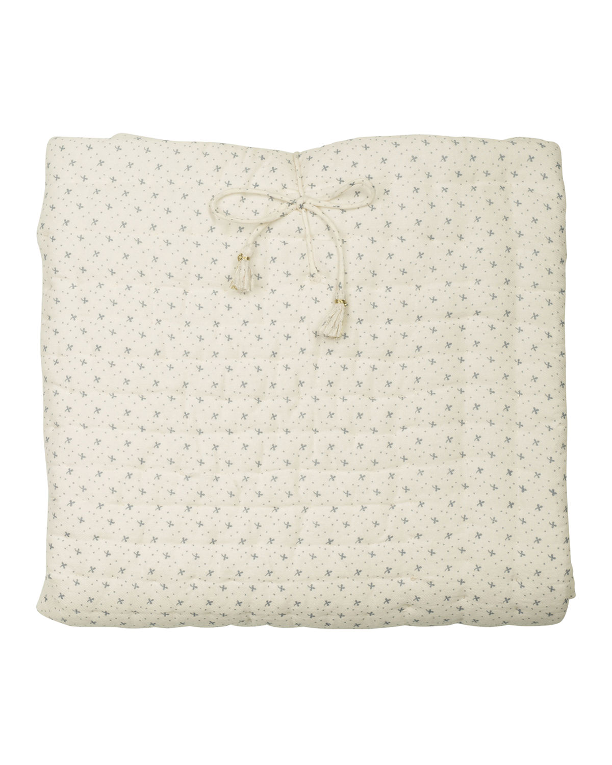 QUILTED FLORAL BLANKET