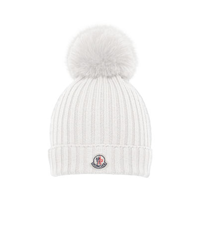 Moncler Girls' Wool Pompom Beanie Hat