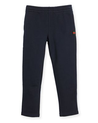 Gucci Felted Jersey Track Pants, Size 4-12