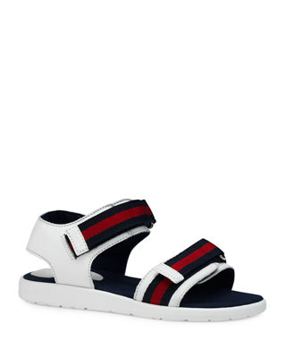 Leather Grip-Strap Sandal, Toddler/Youth Sizes 10T-2Y