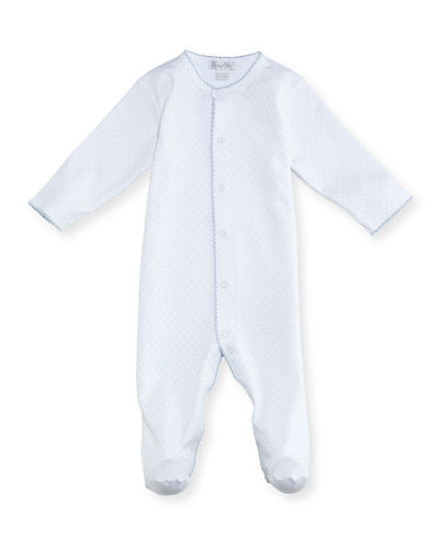 Polka-Dot Footie Playsuit  Size 0-9 Months