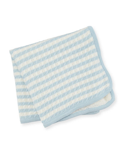 Angel Dear Sherpa Cable Knit Baby Blanket