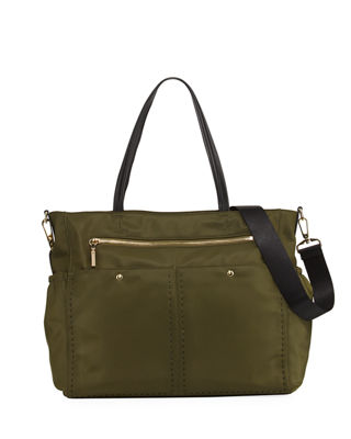 Image 1 of 3: Solid Stitch Diaper Bag