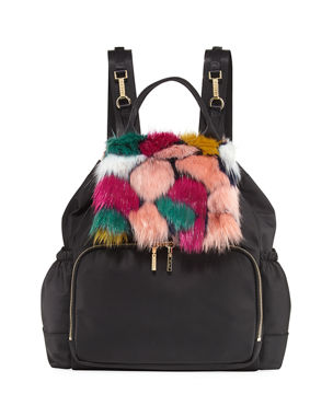 da283dcf2731 Milly Minis Faux-Fur Diaper Bag Backpack