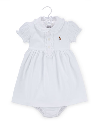Ralph Lauren Cap-Sleeve Pima Polo Dress w/ Bloomers,
