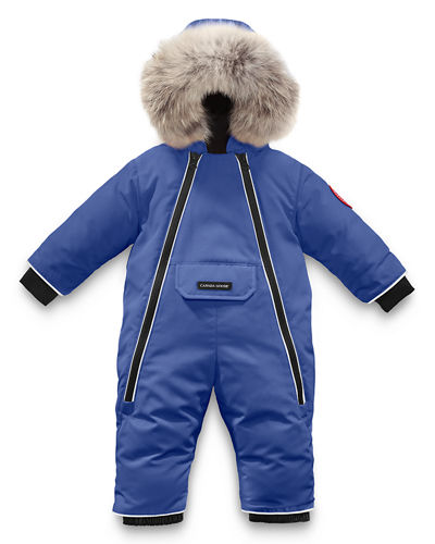 Canada Goose Lamb Snowsuit with Fur Trim, Size