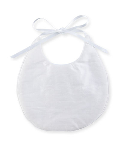 Simple Silk Bib w/ Satin Ribbon Bow