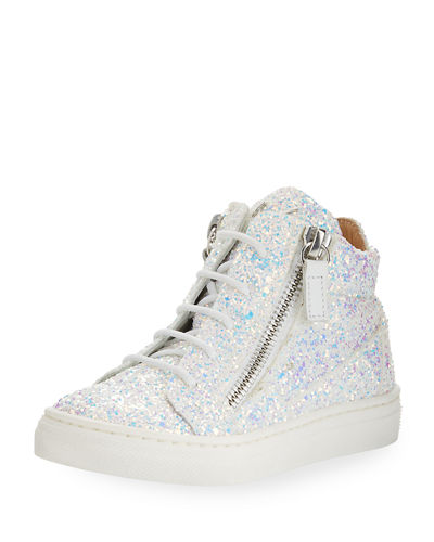 Mattglitt Hitop Glitter High-Top Sneakers, Baby/Toddler Sizes 6M-9T