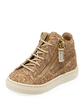 Mattglitt Hitop Glitter High-Top Sneakers, Infant/Toddler Sizes 6M-9T, Gold