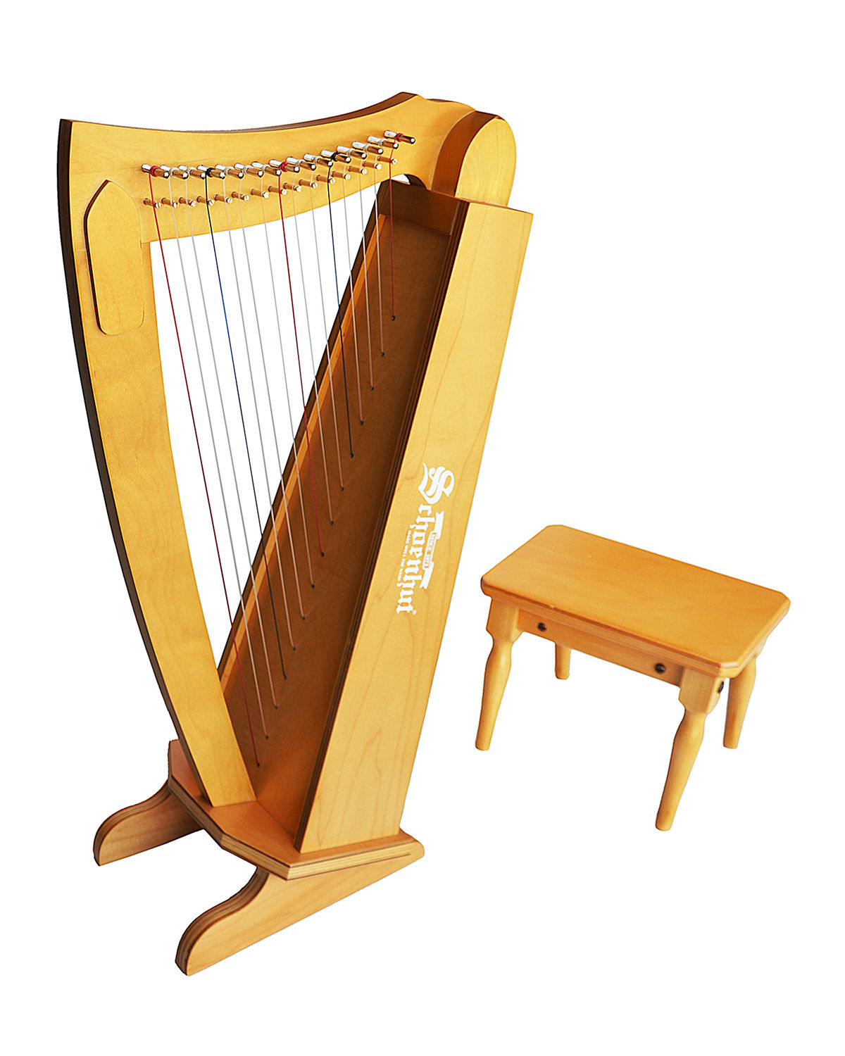Kids String Harp Instrument with Bench