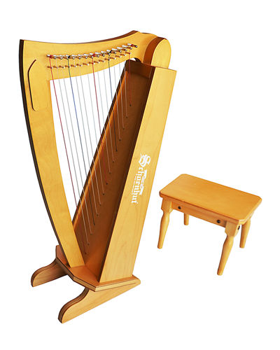 Kids' String Harp Instrument with Bench