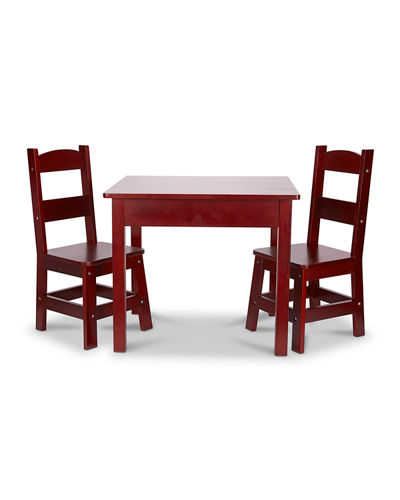 Kids' Solid Wood Table & Two Chairs